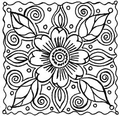 Abstract Flower Doodle For You designed by Kat Ahrens