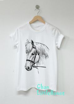 Horse t-shirt, zebra shirt, Women shirt, Women clothing, fashion shirt, Cotton100 Unisex Clothing Hi