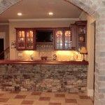 Custom Basement Kitchen & Bar