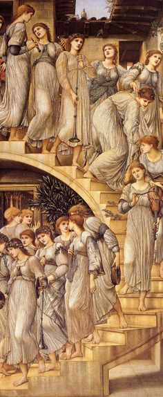 The Golden Stairs, Edward Burne-Jones, Tate Gallery Op Art, William Morris, Rembrandt, Shaman Ritual, Art Picasso, Pre Raphaelite Brotherhood, Edward Burne Jones, John William Waterhouse, Tate Gallery