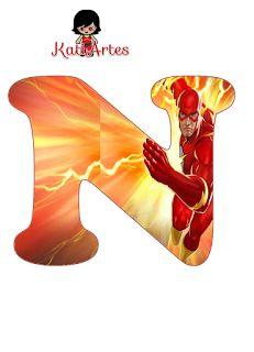 Alfabeto de Flash. Superhero Birthday Invitations, Superhero Birthday Party, The Flash Cartoon, Bolo Flash, Infinity Art, Flash Design, Flash Gordon, Class Decoration, Disney Mickey Mouse