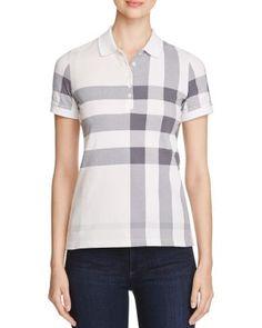 BURBERRY Check Piqué Polo Shirt. #burberry #cloth #shirt