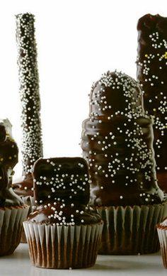 Receta de cupcakes con cobertura de trufa