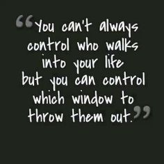 You can control which window to throw them out