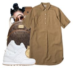 """""""Untitled #659"""" by b-elkstone ❤ liked on Polyvore featuring MICHAEL Michael Kors, New Balance and Lacoste"""