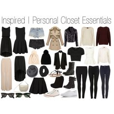Personal Closet Essentials - Polyvore. My inspiration for my shopping trip this week