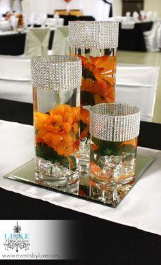 Orange, Black and White Wedding Decor in London Ontario |