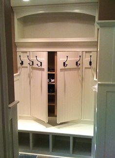 Small Laundry Rooms, Laundry Room Organization, Laundry Room Design, Organizing, Secret Storage, Hidden Storage, Entryway Storage, Closet Storage, Hidden Rooms