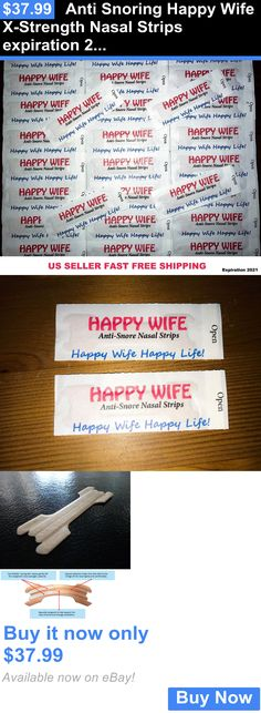 Other Sleeping Aids: Anti Snoring Happy Wife X-Strength Nasal Strips Expiration 2021 Free Shipping BUY IT NOW ONLY: $37.99