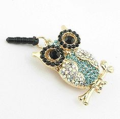Smartele 3.5mm Bling Crystal Rhinestones Night Owl Earphone Jack / Dust Plug / Ear Jack / Cellphone Charms/Headphone Jack Plug For Iphone / Samsung / iPad / iPod Touch / Sony/ Nokia/ Motorola/ LG /Lenovo /Other 3.5mm Ear Jack by Smartele, http://www.amazon.com/dp/B00C3B50PY/ref=cm_sw_r_pi_dp_-iNNrb1943QGE