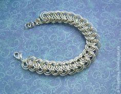 """Браслет """"Классицизм"""" - серебряный,кольчужное плетение,изящный,необычный"""