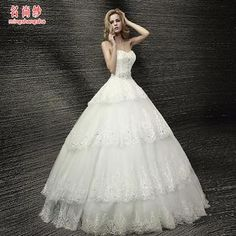 Buy 'MSSBridal – Strapless Tiered Wedding Ball Gown ' with Free International Shipping at YesStyle.com. Browse and shop for thousands of Asian fashion items from China and more!