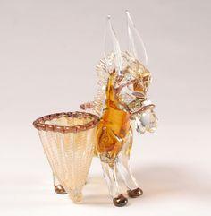 Barovier Murano Art Glass Mule Cordonato