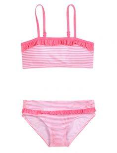 Stripe Bandeau Bikini Swimsuit_the bathing suit I want~Lindsay