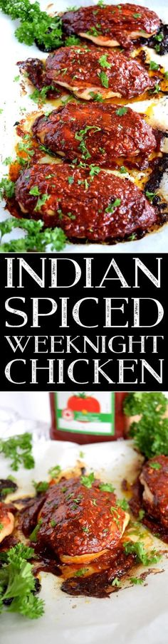 Indian Spiced Weeknight Chicken - Lord Byron's Kitchen #KetchupWithFrenchs #CollectiveBias #ad  Slightly sweet with a little heat, this easy Indian Spiced Weeknight Chicken is sure to please the pickiest member of your family.  With just a few basic ingredients, you can transform a plain chicken breast into a moist, succulent masterpiece in no time at all!