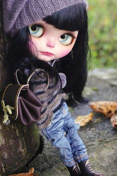 Blythe Doll Liliwen and me wish you a happy weekend! by Kass and Maria, via Flickr