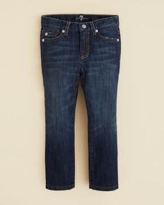 7 For All Mankind Boys' Standard Straight Leg Jeans - Sizes 2T-4T