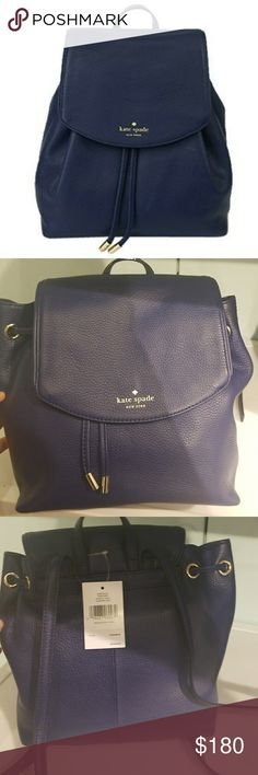 Kate Spade Small Breezy Mulberry Street backpack Dark blue   So cute and can hold a lot kate spade Bags