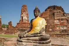 Ayutthaya, Thailand - Wat Phra Mahathat, via Flickr.