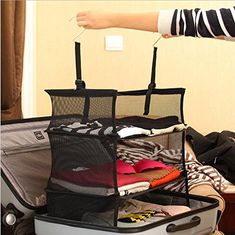 3-tier Shelves/ Suitcase Organizer/closet Organizer Black... https://www.amazon.com/dp/B01B6D94X8/ref=cm_sw_r_pi_dp_HowxxbC3VTT8C