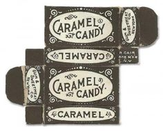 Vintage Caramel Candy Packaging