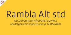 Rambla Alt STD #free #font