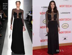 Olivia Munn In Ralph Rucci – 'Mortdecai' LA Premiere