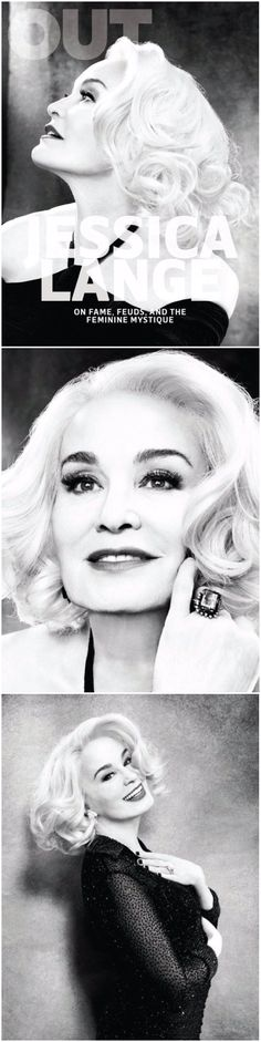 The Indomitable Jessica Lange for Out Magazine. American Horro Story's one and only Supreme!