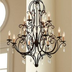 Ballard Designs - Waldorf 12-Light Chandelier - Elegantly refined, our Waldorf Chandelier is hand crafted of gracefully scrolled steel with ...