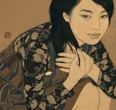 Desenhos em linho de Yasunari Ikenaga – arte ref
