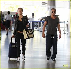 Max George & Nina Agdal: Goodbye Kiss at Barbados Airport! | max george nina agdal goodbye kiss at barbados airport 03 - Photo