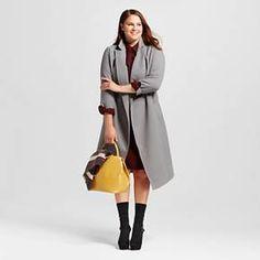 Women's Plus Size Great Wrap Coat Tan - Who What Wear™ : Target