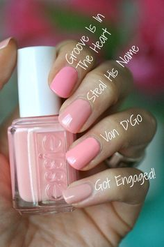 Essie Bridal 2016 Steal His Name ; Essie Bridal 2016 Steal His Name ; Nail Art Cute, Cute Nails, Pretty Nails, My Nails, Glitter Nails, Essie Nail Colors, Essie Nail Polish, Nail Polish Colors, Gel Polish