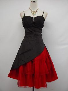 Cherlone Satin Black Corset Prom Cocktail Party Ball Evening Bridesmaid Dress