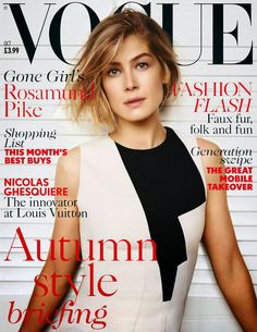 Rosamund Pike by Alasdair McLellan for Vogue Magazine, UK, October 2014 (English actress who played a Bond Girl in Die Another Day, and received an Oscar nomination for Gone Girl)