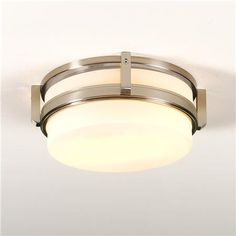 """Modern Classic Ceiling Light in Satin Nickel (Large) - (4.5""""H x 14""""W) - $139"""