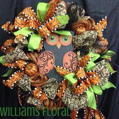 Owl Mesh Wreath on Etsy, $99.00