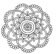 Mandala Coloring Pages Printable. Collection of Mandala coloring pages. You can find mandala images to color, from easy to hard. Mandala Art, Easy Mandala Drawing, Design Mandala, Mandalas Painting, Mandalas Drawing, Mandala Coloring Pages, Mandala Pattern, Zentangle Patterns, Dot Painting