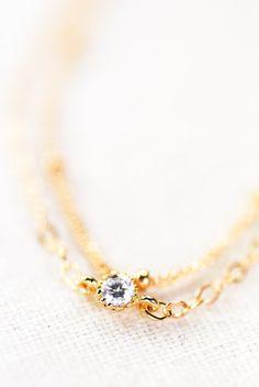 Hoku Satellite bracelet  a delicate 14kt gold filled double