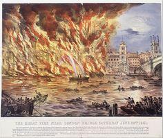 The Great Fire Near London Bridge, Saturday June Great Fire Of London, The Great Fire, London Drawing, Google Art Project, Duke Of York, London Skyline, London Bridge, Old London, Illustrations