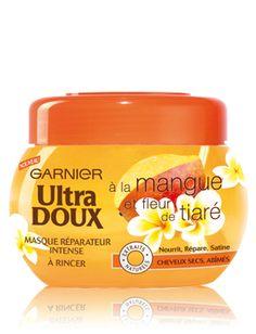 Ultra Doux masque réparateur à la mangue et fleur de tiaré pour cheveux secs et abimés - GARNIER