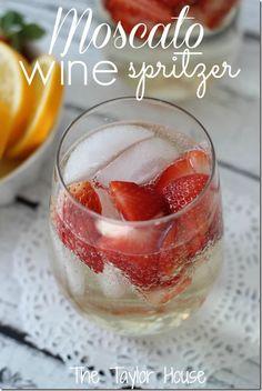 Moscato Wine Spritzer