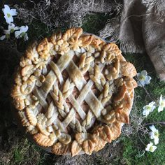 Salted Caramel Pear Pie by Judy Kim | The Judy Lab