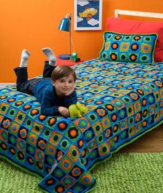 Kids Twin Bed Afghan