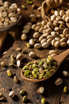 Raw Organic Pistachio Nuts by Brent Hofacker / Healthy Fats, Healthy Eating, Healthy Recipes, Fruit And Veg, Fruits And Vegetables, Raw Pistachios, Fruit Photography, Cooking Ingredients, Mixed Nuts