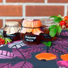 Rosehip jam and rowanberry jelly Jelly Desserts, Dessert Recipes, Lime, Table Decorations, Interior Design, Inspiration, Home Decor, Interior Design Studio, Biblical Inspiration