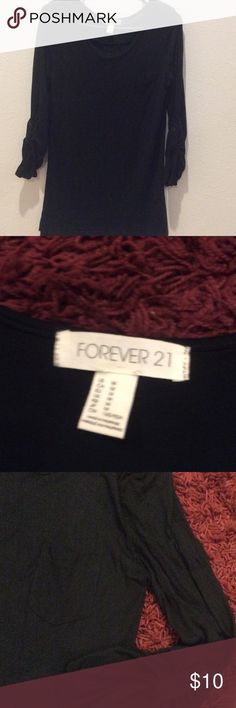 Black blouse Used 2 times Forever 21 Tops