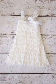 Lace Flower Girl Dress  Baby Dress  white Dress  by PoshPeanutKids, $26.95