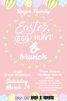 free easter egg hunt invitation template, including two different options so you can easily personalize this for your needs.