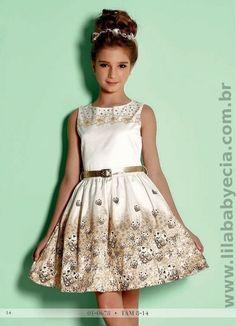 Vestido Infantil Diforini Moda Infanto Juvenil 010678